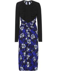 Proenza Schouler Floral-printed Jersey Dress - Black