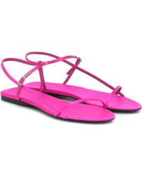 The Row Bare Satin Sandals - Pink