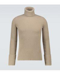 Bottega Veneta Jersey de cuello alto acanalado - Neutro
