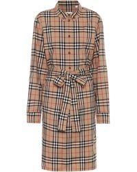 Burberry Vestido camisero Vintage Check - Neutro