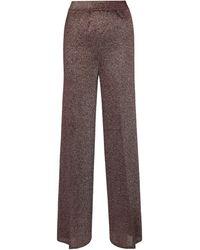 Missoni Pantalones anchos de tiro alto - Marrón