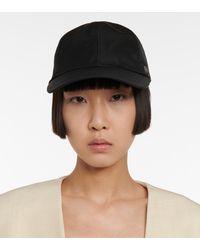 Totême Cotton-blend Twill Cap - Black