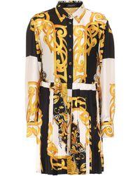 Versace Vestido camisero Barocco Acanthus - Multicolor