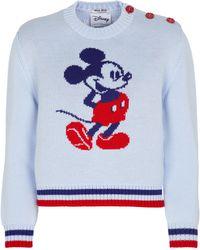 Miu Miu X Disney® Wollpullover mit Intarsien - Rot