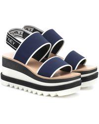 Stella McCartney Sandali Sneak-Elyse con platform - Blu