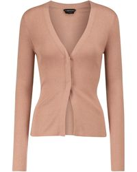 Tom Ford Cashmere And Silk Cardigan - Natural