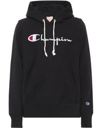 Champion Logo Cotton Hoodie - Black