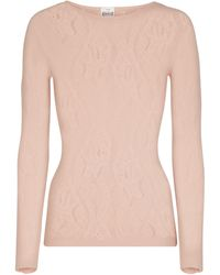 Wolford Pull-over Ninat à manches longues - Rose