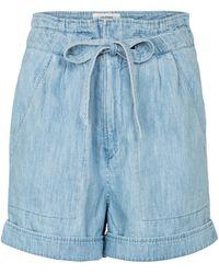 Étoile Isabel Marant Shorts paperbag Marius de algodón - Azul