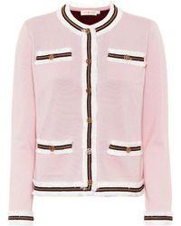 Tory Burch Kendra Merino Wool Jacket - Pink