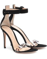 d383c5d475f Gianvito Rossi - Stella Suede Sandals - Lyst