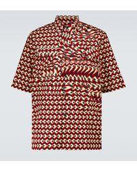 Dries Van Noten Hemd aus Baumwolle - Rot