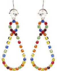 Miu Miu - Crystal Teardrop Earrings - Lyst