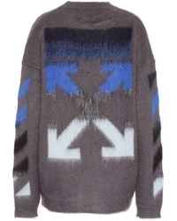Off-White c/o Virgil Abloh - Pullover mit Mohairanteil - Lyst