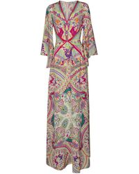 Etro Paisley-print Silk Maxi Dress - Multicolour