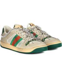 Gucci Verzierte Sneakers Screener - Weiß