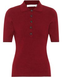 Victoria Beckham Camisa polo Slub Signature - Rojo