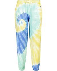 Polo Ralph Lauren Pantalones de chándal de algodón tie-dye - Azul