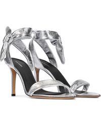 Isabel Marant Arka Metallic Leather Sandals