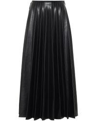 Peter Do High-rise Faux Leather Skirt - Black