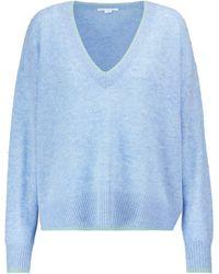 Veronica Beard Estora Cashmere Sweater - Blue
