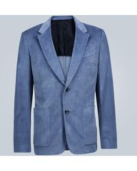 AMI Blazer de pana ajustado - Azul