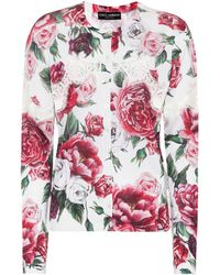 Dolce & Gabbana - Silk-blend Cardigan With Lace - Lyst