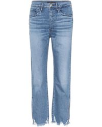 3x1 - W4 Relaxed Split Cropped Jeans - Lyst