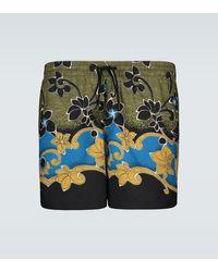 Dries Van Noten Bañador con estampado floral - Verde