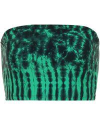 Tropic of C Vibe Tie-dye Bikini Top - Green