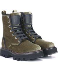 Brunello Cucinelli - Velvet Ankle Boots - Lyst