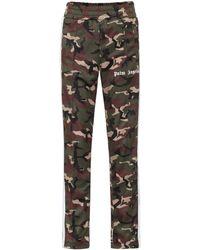 Palm Angels Pantalones de chándal con estampado militar - Multicolor