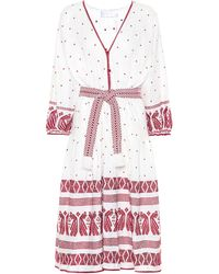 Zimmermann - Exclusive To Mytheresa.com – Embroidered Linen Dress - Lyst