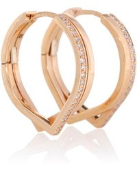 Repossi Antifer Pink Gold And Diamond Earrings