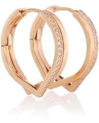 Repossi - Pendientes de oro rosado y diamantes Antifer - Lyst