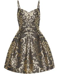 Dolce & Gabbana - Minikleid aus Brokat - Lyst