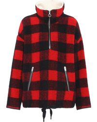 Étoile Isabel Marant - Gilas Checked Wool-blend Sweater - Lyst