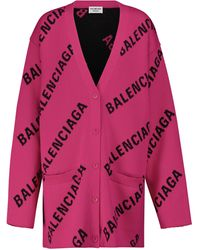 Balenciaga Cardigan mit Baumwollanteil - Pink