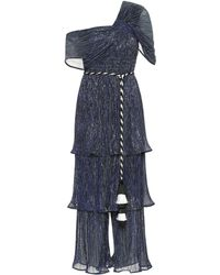 Peter Pilotto Pleated Jersey Jumpsuit - Blue