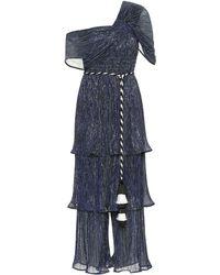 Peter Pilotto Pleated Jersey Jumpsuit - Blue