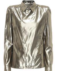 Saint Laurent - Metallic Shirt - Lyst