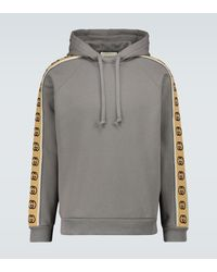 Gucci Sudadera con capucha de punto de algodón - Gris