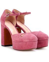 Marc Jacobs - Suede Plateau Court Shoes - Lyst