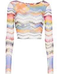 Missoni Cropped Zig-zag Knit Top - Multicolour