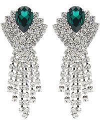 Alessandra Rich - Crystal Earrings - Lyst