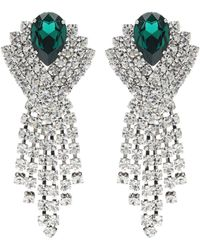 Alessandra Rich Crystal Earrings - White