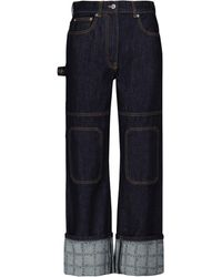 JW Anderson High-Rise Straight Jeans - Blau