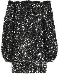 ROTATE BIRGER CHRISTENSEN Robe Gloria à sequins - Noir