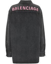 Balenciaga Camicia di jeans oversize - Nero