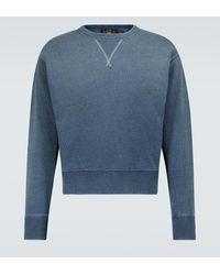 RRL Washed Cotton Sweatshirt - Blue